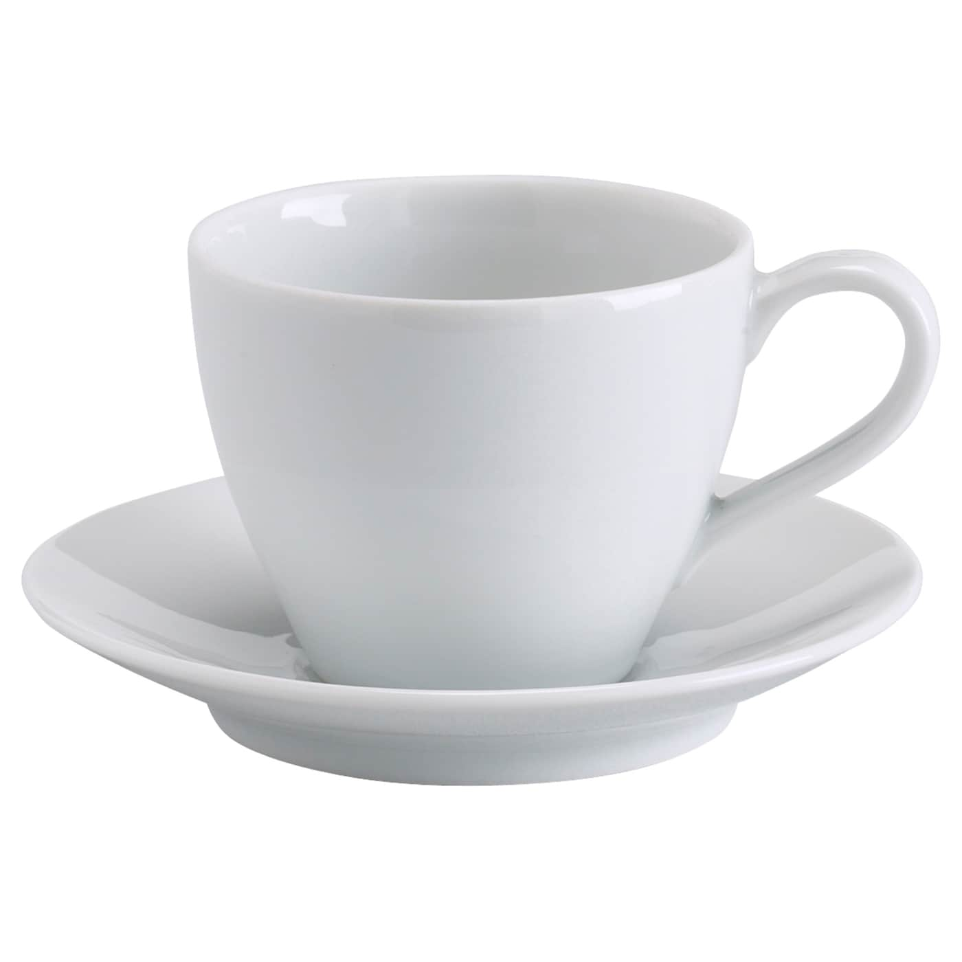 Vardera Coffee Cup And Saucer White Ikea