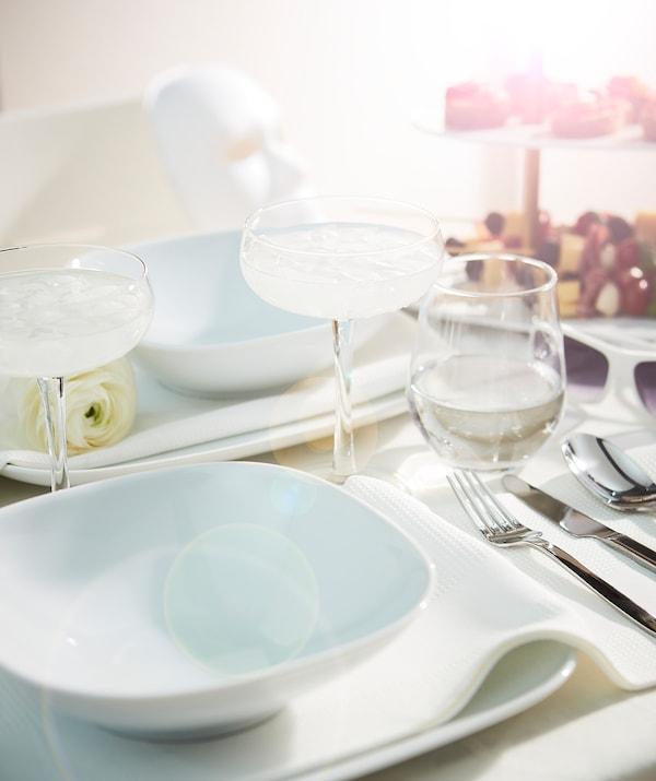 "VÄRDERA Deep plate/bowl, white, 7 ¾x7 ¾ """