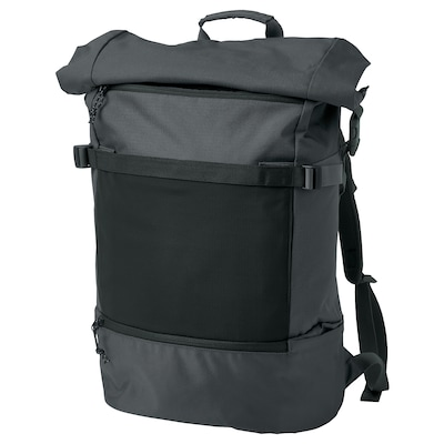 VÄRLDENS backpack dark gray 7 gallon