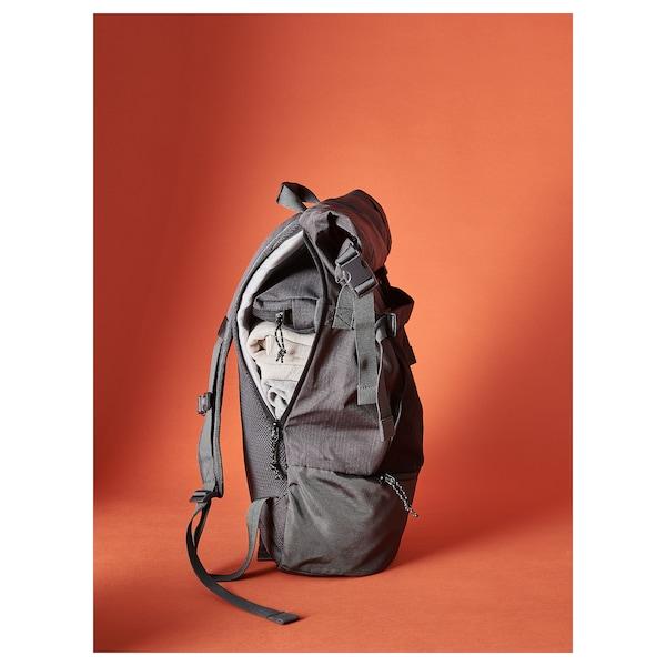 VÄRLDENS backpack dark gray 7 gallon