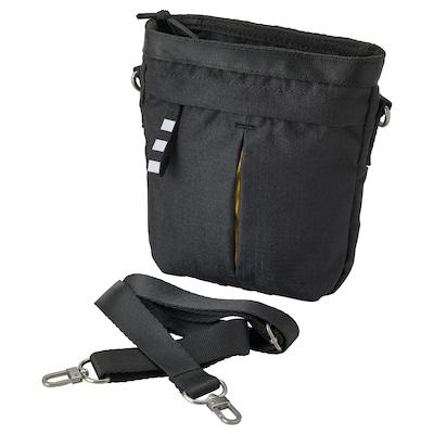 "VÄRLDENS Crossbody bag, black, 6 ¾x2x7 ¾ ""/1 gallon"