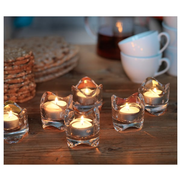 "VÄSNAS tealight holder clear glass 2 ¼ "" 2 3/8 """