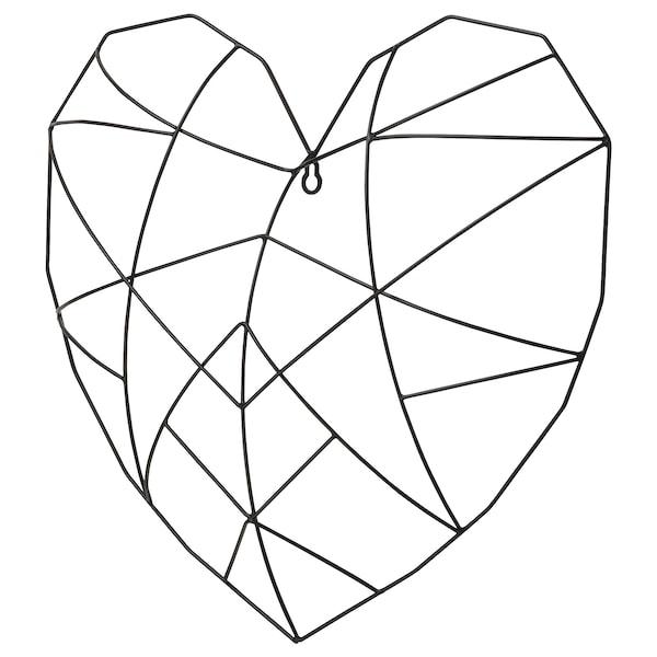 "VÄTTLÖSA Wall decoration, heart black, 17 ¼x15 ¾ """