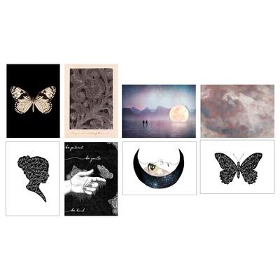 "VÄXBO Art card, Black butterfly, 5x7 """