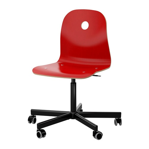 VÅGSBERG SPORREN Swivel chair red black IKEA