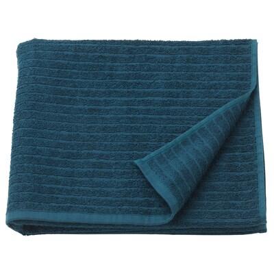 """VÅGSJÖN bath towel dark blue 55 """" 28 """" 10.55 sq feet 1.31 oz/sq ft"""