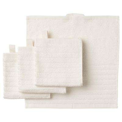 """VÅGSJÖN washcloth white 12 """" 12 """" 0.97 sq feet 1.31 oz/sq ft 4 pack"""
