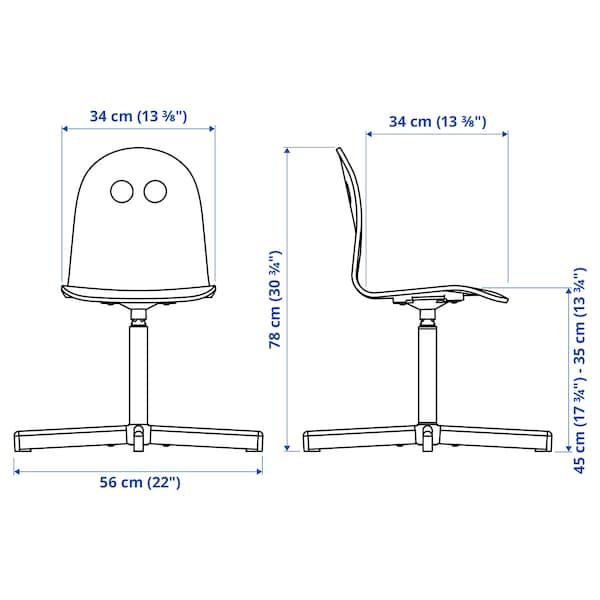 VALFRED / SIBBEN Child's desk chair, white