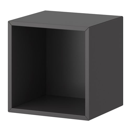 Valje wall cabinet dark gray ikea for Ikea meuble rangement mural