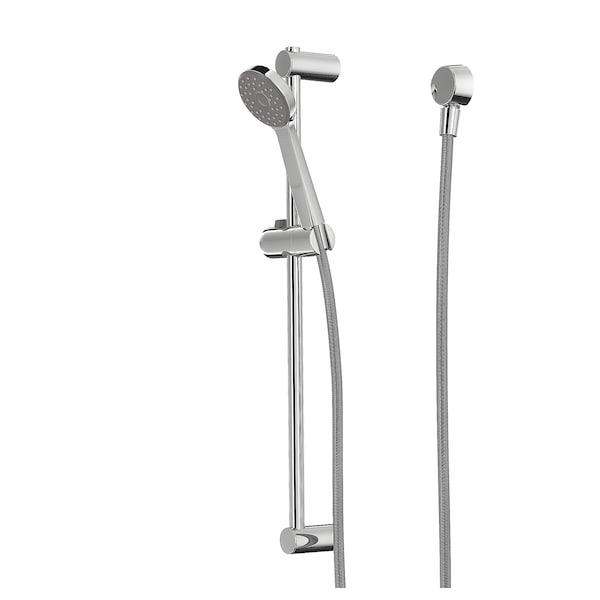 VALLAMOSSE Riser rail with hand shower/outlet, chrome plated