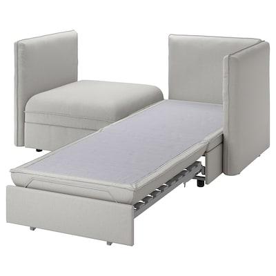 "VALLENTUNA mod sofa, 2 seat w slpr section and storage/Orrsta light gray 73 1/4 "" 44 1/2 "" 33 1/8 "" 31 1/2 "" 39 3/8 "" 17 3/4 "" 31 1/2 "" 78 3/4 """
