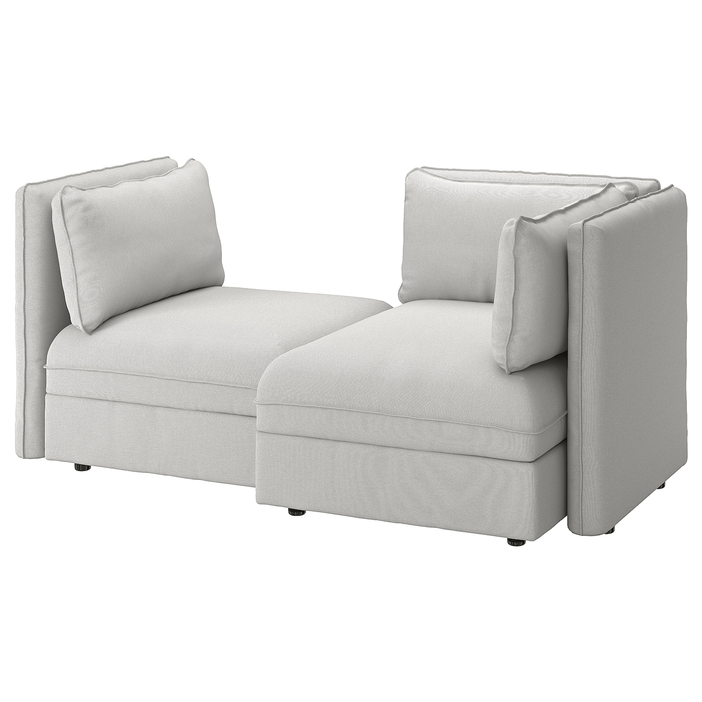 VALLENTUNA Modular loveseat - with storage, Orrsta light gray - IKEA