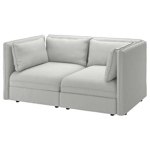 "VALLENTUNA modular loveseat Orrsta light gray 73 1/4 "" 44 1/2 "" 33 1/8 "" 39 3/8 "" 17 3/4 """