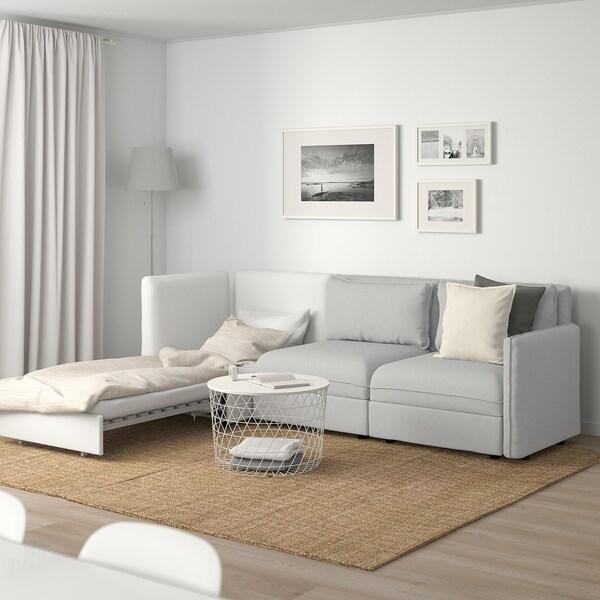 """VALLENTUNA 3-seat modular sleeper sofa and storage/Orrsta/Murum light gray/white 104 3/4 """" 33 1/8 """" 36 5/8 """" 44 1/2 """" 31 1/2 """" 39 3/8 """" 17 3/4 """" 31 1/2 """" 78 3/4 """""""