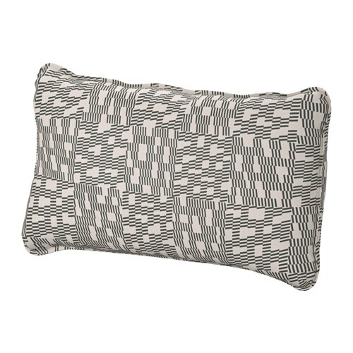 vallentuna back cushion funnarp black beige ikea. Black Bedroom Furniture Sets. Home Design Ideas