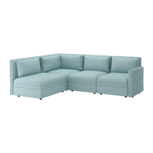 Pink Leather Sofa: VALLENTUNA Modular Corner Sofa, 3-seat