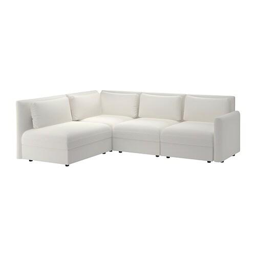 VALLENTUNA Modular corner sofa, 3-seat - with storage/Murum white - IKEA