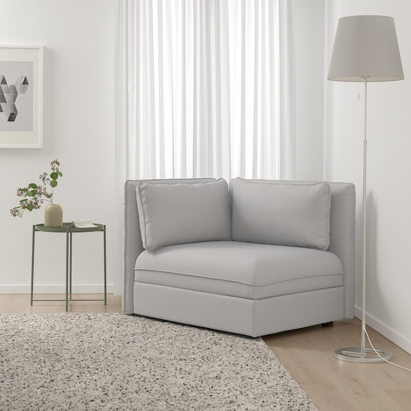 "VALLENTUNA sectional, 1-seat Orrsta light gray 44 1/2 "" 36 5/8 "" 33 1/8 "" 31 1/2 "" 17 3/4 """
