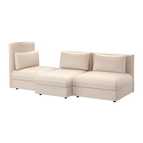Vallentuna sectional 3 seat murum beige ikea for Sofas por modulos