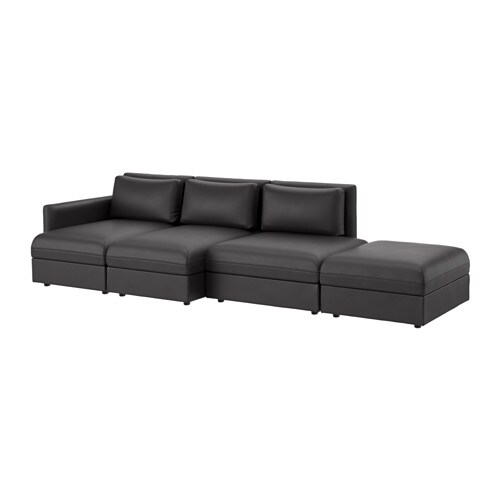 vallentuna sectional 4 seat murum black ikea. Black Bedroom Furniture Sets. Home Design Ideas