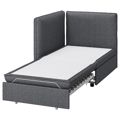 VALLENTUNA Sleeper module with backrests, Hillared dark gray