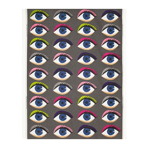 VÄNNERNA TITTA Fabric IKEA Pattern with wide eyes.
