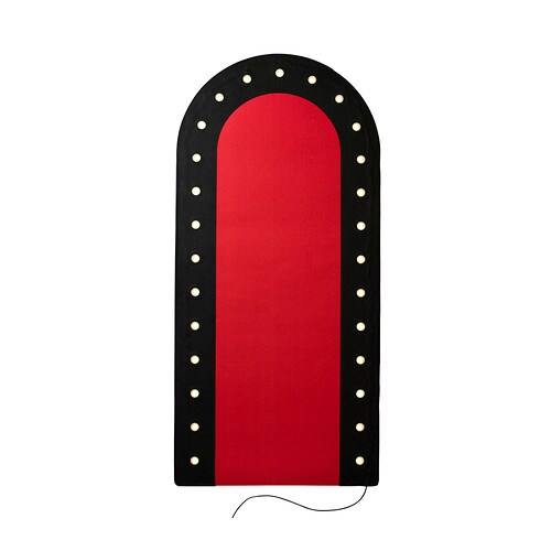 Ikea Stage Rug With Led Light Red Black New Ebay