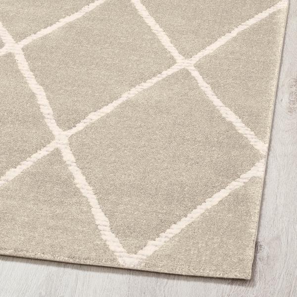 "VANTORE Rug, low pile, beige/white diamond pattern, 7 ' 10 ""x9 ' 10 """