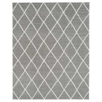 "VANTORE Rug, low pile, gray/white diamond pattern, 7 ' 10 ""x9 ' 10 """