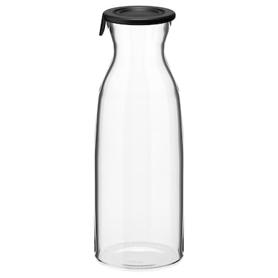 VARDAGEN Carafe with lid, clear glass, 34 oz