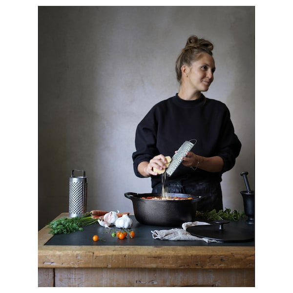 Vardagen Casserole With Lid Cast Iron 7 4 Qt Shop Online Or In Store Ikea