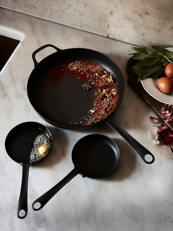 """VARDAGEN Frying pan, carbon steel, 5 """""""