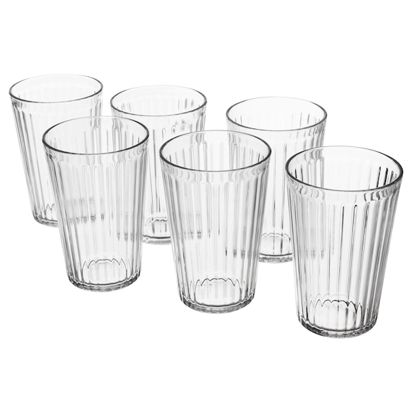 "VARDAGEN glass clear glass 5 "" 15 oz 6 pack"