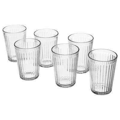 """VARDAGEN glass clear glass 4 """" 7 oz 6 pack"""