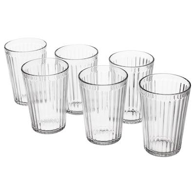 """VARDAGEN glass clear glass 4 """" 10 oz 6 pack"""