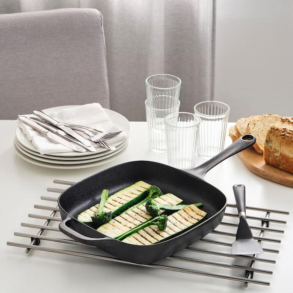 "VARDAGEN Grill pan, cast iron, 11x11 """