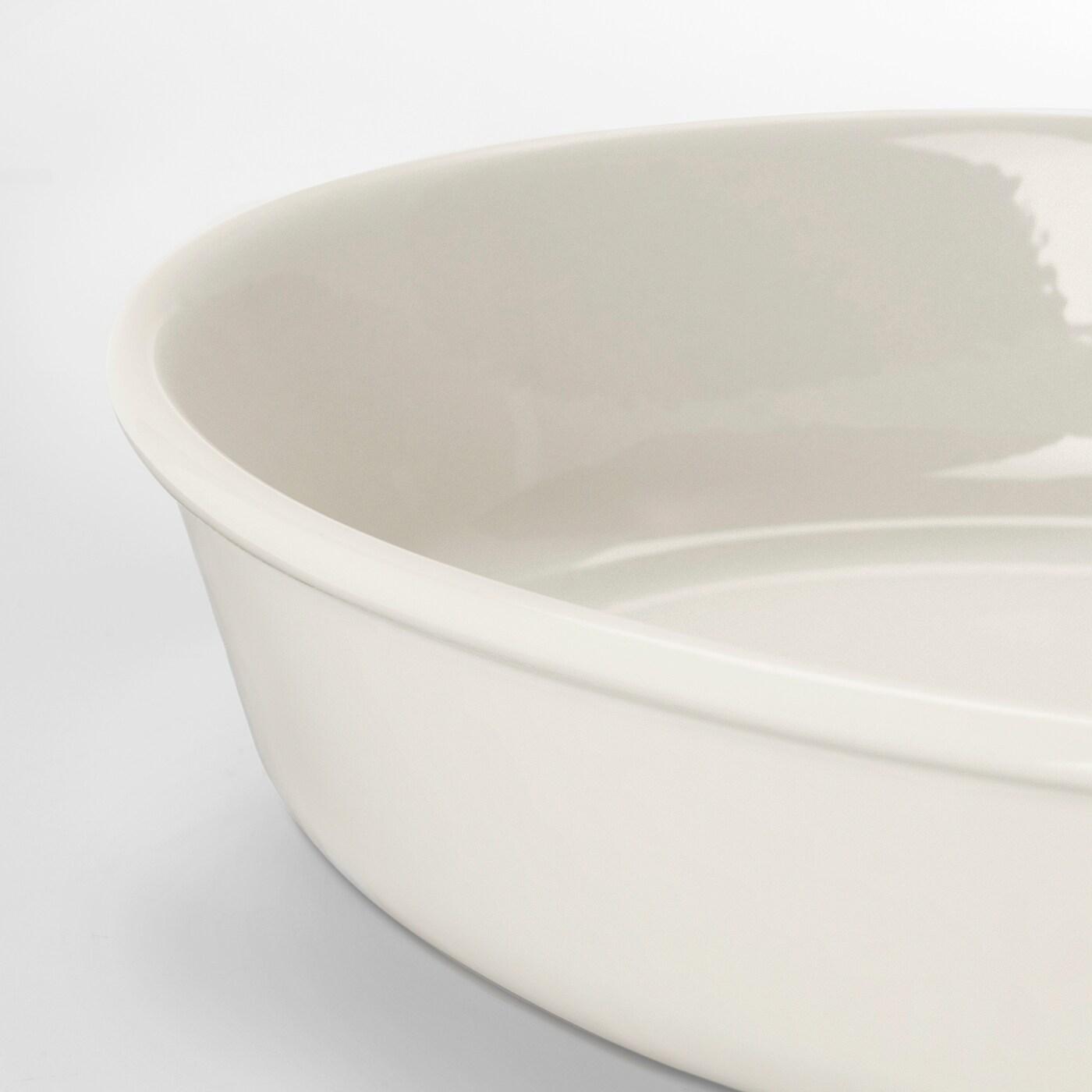 Oval IKEA 202.893.16 Vardagen Oven Dish Off-White