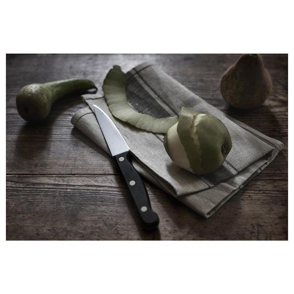 """VARDAGEN Paring knife, dark gray, 4 """""""