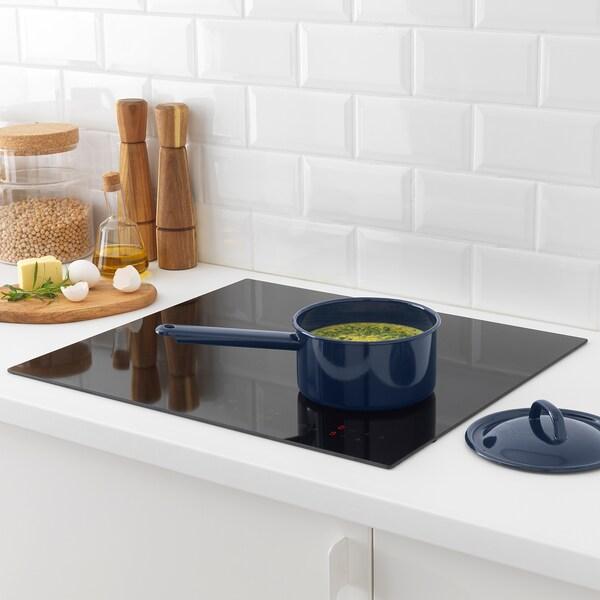 VARDAGEN Saucepan with lid, enamelled steel, 2 qt