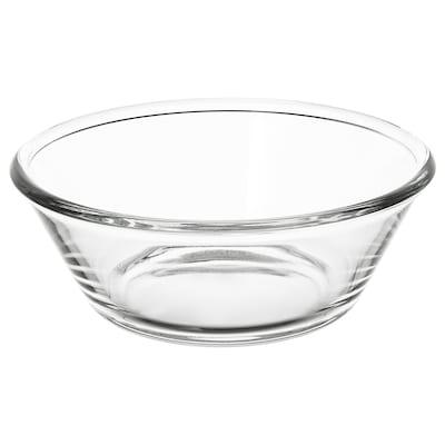 """VARDAGEN serving bowl clear glass 3 """" 8 """""""