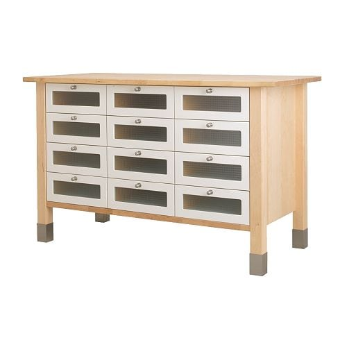 Ikea Aspelund Underbed Storage Drawer ~ IKEA Varde Kitchen Island in Birch Wood Islands Kitchen Furniture