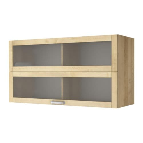 V?RDE Glass-door wall cupboard - birch - IKEA - Ikea Varde Wall