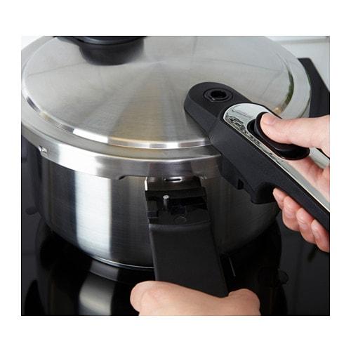 VÄRDESÄTTA Pressure cooker IKEA A pressure cooker reduces cooking time by up to 50%, which saves you both time and energy.