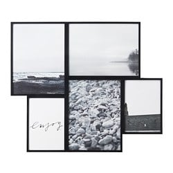VAREKIL collage frame for 5 photos, black