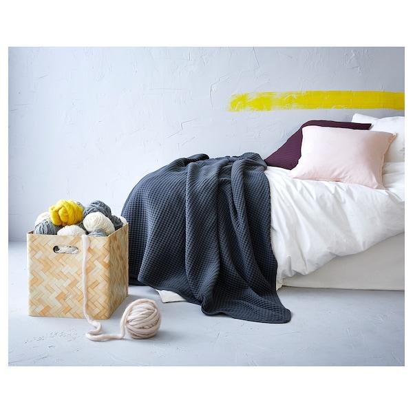 "VÅRELD Bedspread, dark gray, 91x98 """