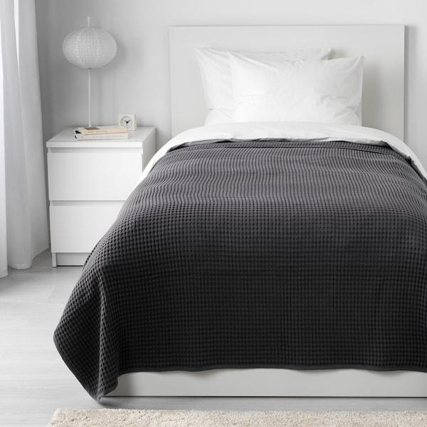 """VÅRELD bedspread dark gray 98 """" 59 """""""