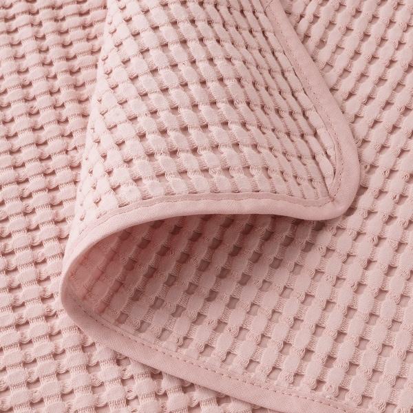 """VÅRELD Bedspread, light pink, 91x98 """""""