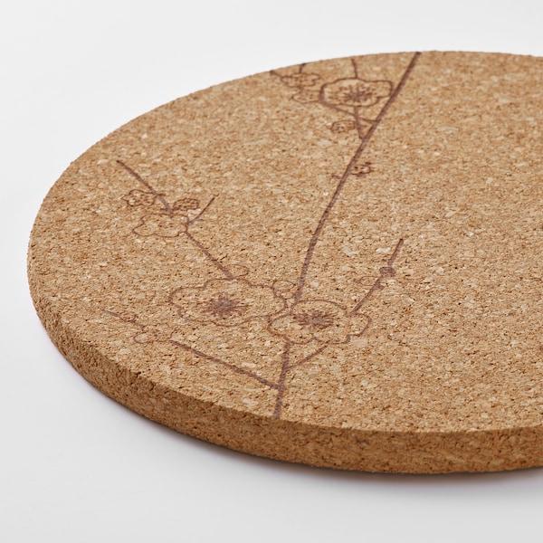 """VÅRFINT Trivet, cork patterned, 7 """""""