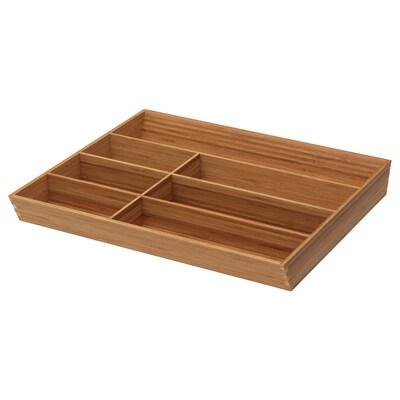 """VARIERA flatware tray bamboo 14 ¾ """" 18 """" 19 ¾ """" 2 1/8 """""""
