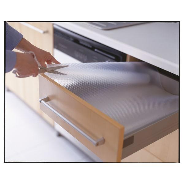 "VARIERA drawer mat clear 59 "" 19 7/8 "" 8 sq feet"